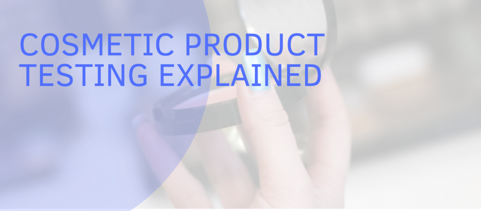 header image for Melbec Microbiology blog shows some makeup illustrating a post about cosmetic testing